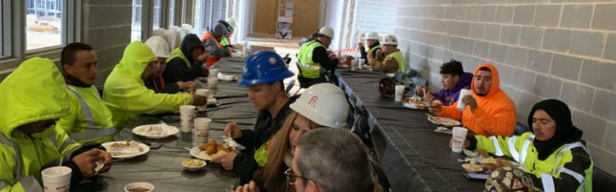 Subcontractor Appreciation Lunch at the Seaforth High School project.