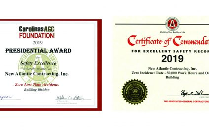 New Atlantic receives two awards for our Excellent Safety Record