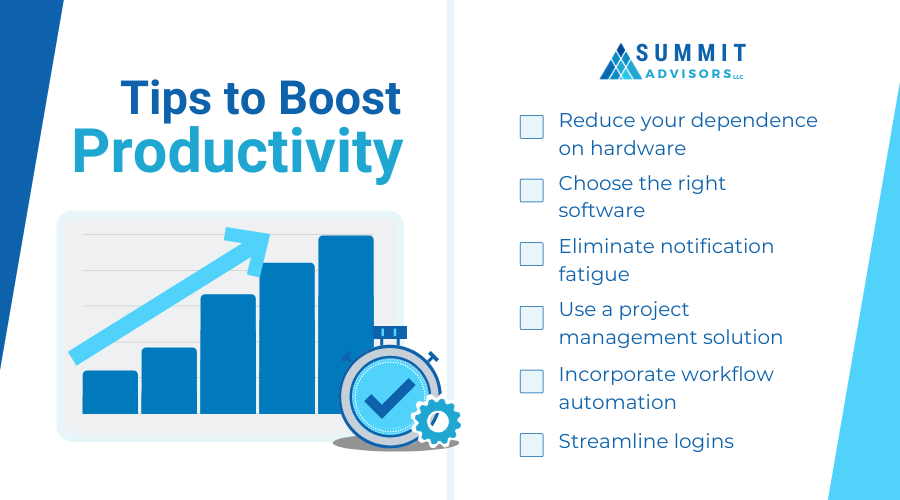 tips to boost productivity infographic