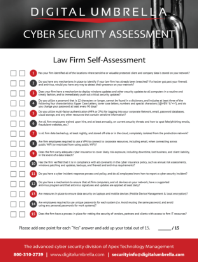 Cybersecurity-Self-Assessment-for-Law-Firms