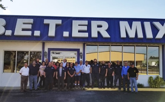 A group of B.E.T.-ER Mix employees