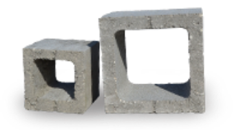 Customized concrete blocks