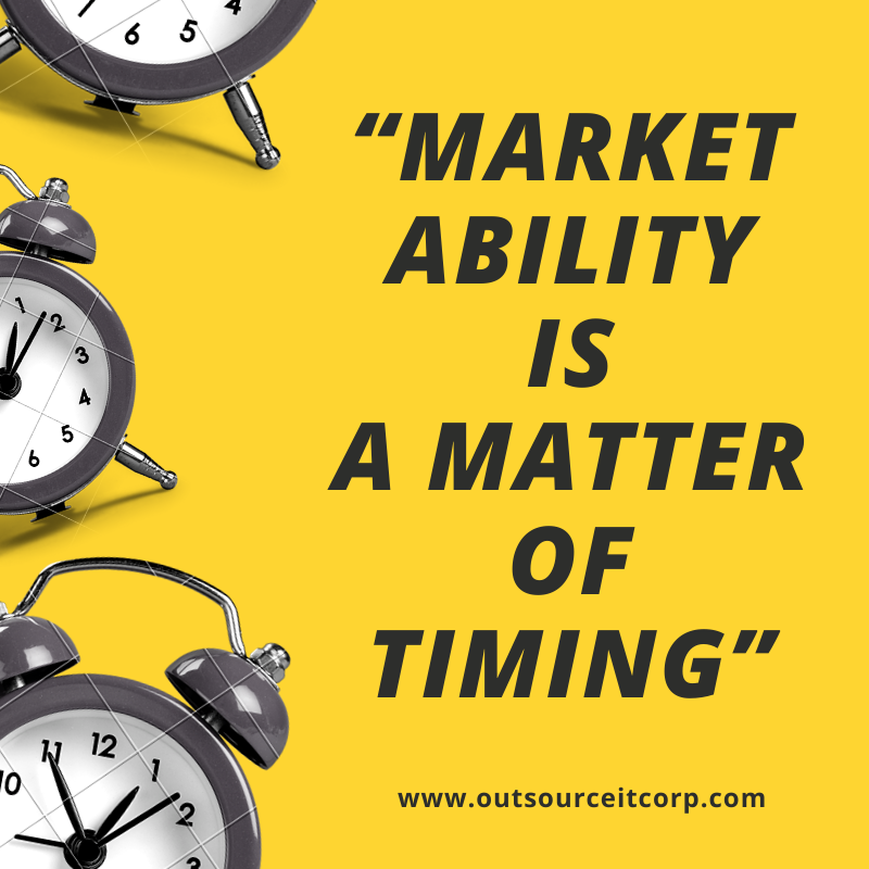 Marketability is a matter of timing