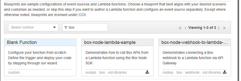 Box Platform on AWS Marketplace – Lambda Blueprints & Sample Code