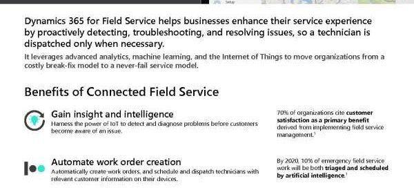 Redefine service through Connected Field Service