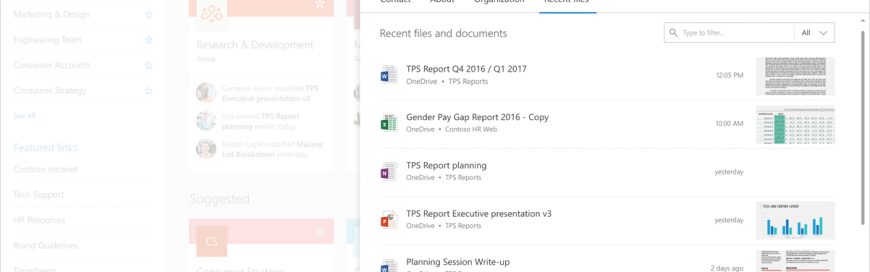 Introducing the new Office 365 profile experience