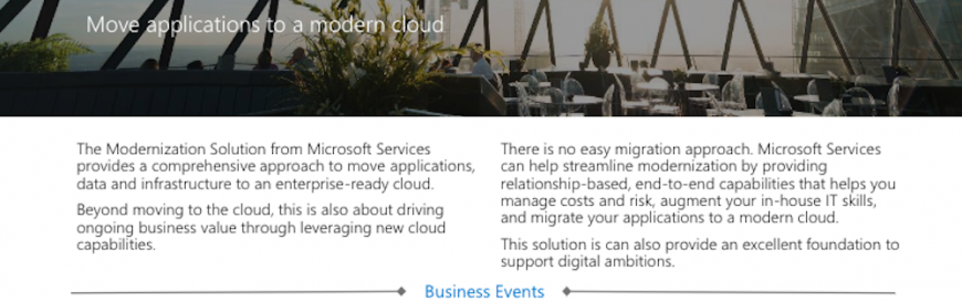 Why Microsoft Services for Modernization