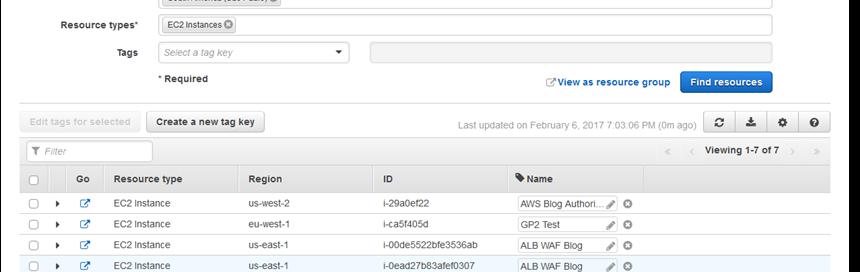 New – AWS Resource Tagging API