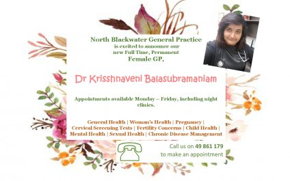 New Doctor Announcement – Dr Krisshnaveni Balasubramaniam