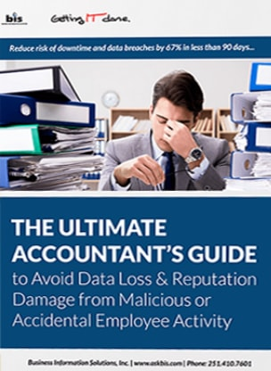 cover of the Ultimate Accountant's Guide to Avoid Data Loss & Reputation Damage from Malicious or Accidental Employee Activity