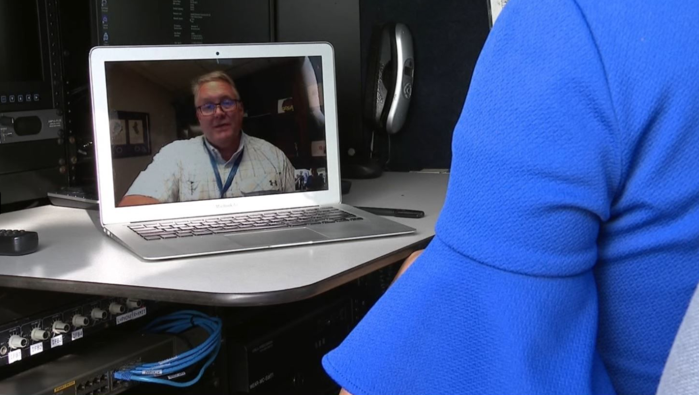 3 Wear TV photo of Phillip interviewing on cybersecurity and the coronavirus