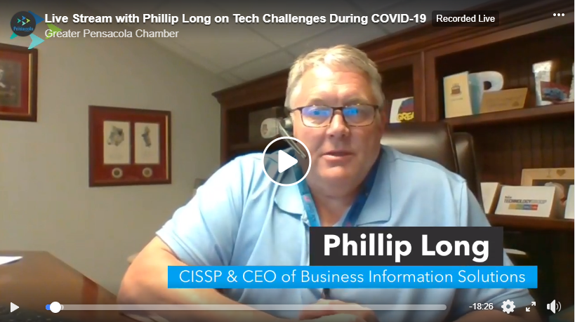 Pensacola Chamber Facebook Live with Phillip Long on remote working
