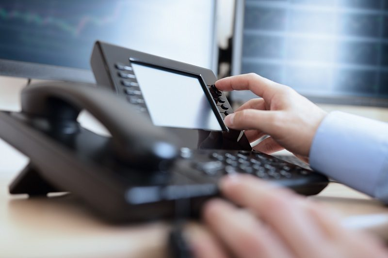 VoIP phone system at business