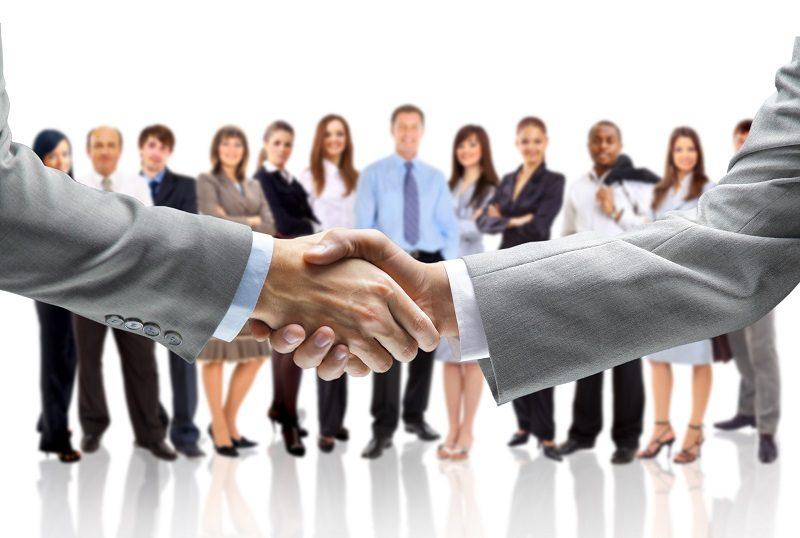 Business communication handshakes