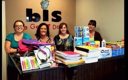 BIS Donates School Supplies To Local Foster Care Program