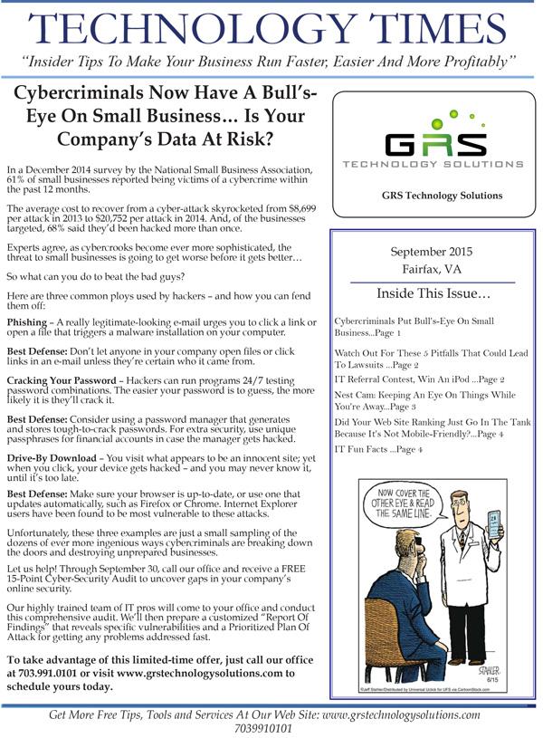 GRS-Technology-Solutions_September_2015_Newsletter-1