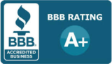 We have an A+ Rating from the Better Business Bureau