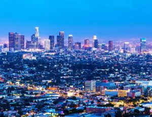 Los Angeles, CA at night
