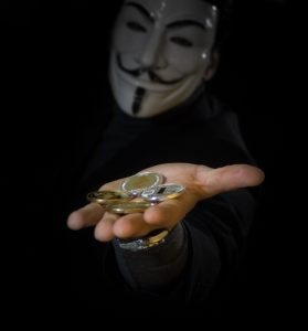 Hacker asking for bitcoin