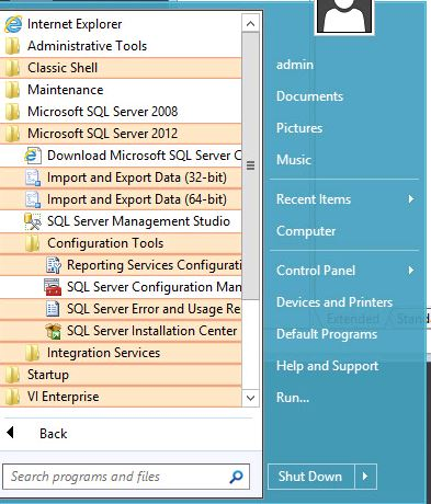 Video Insight Windows 2012 Essentials & SQL 2012 Install