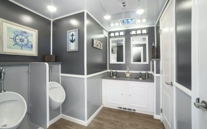 """It's a Restroom Trailer, but """"Oh, My, Wait 'Til You See What's On the Inside!"""""""