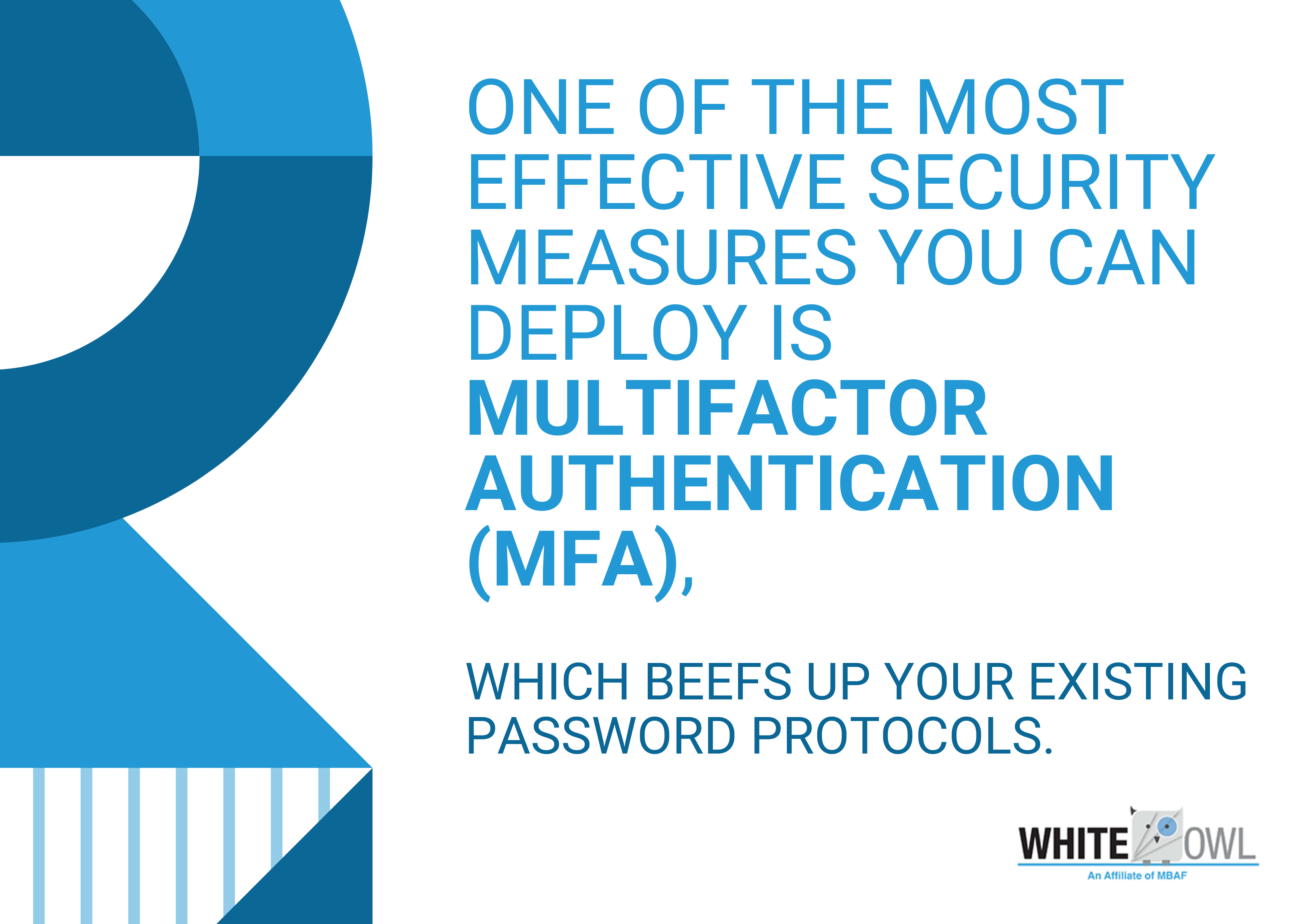 multifactor authentication (MFA) infographic
