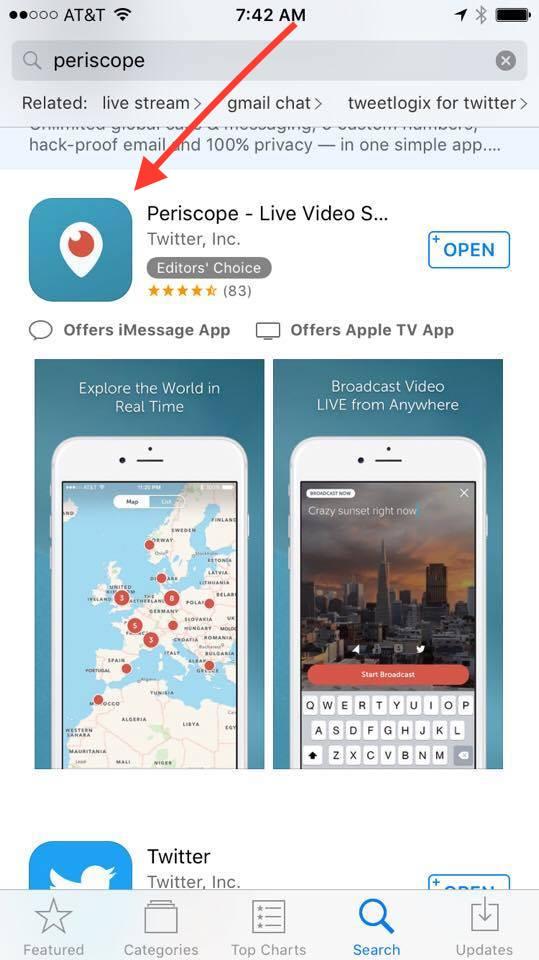 open periscope app