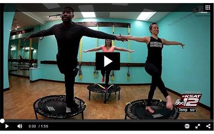inBalance Barre BOUNCE on KSAT 12 Fitness Friday!