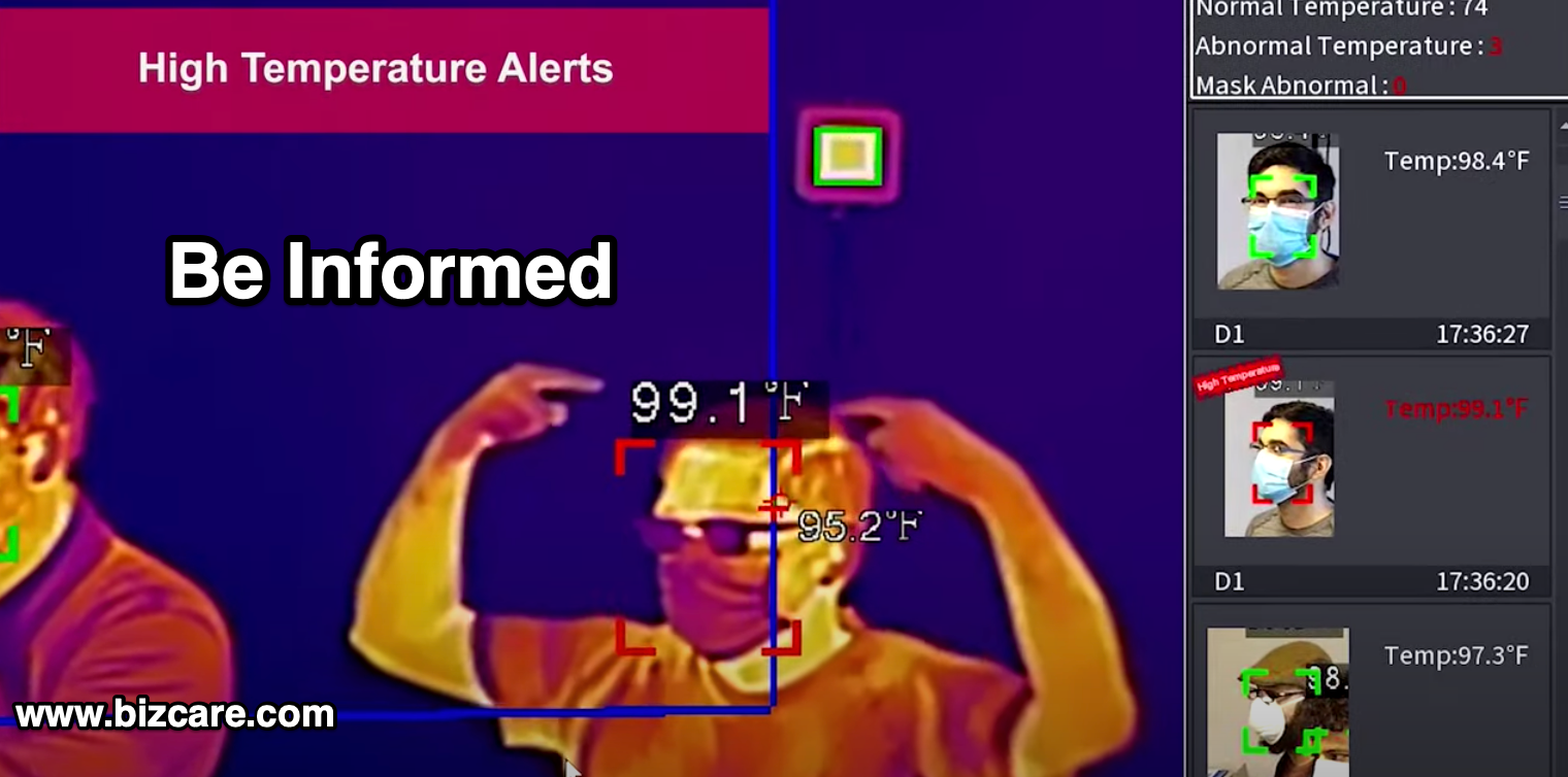 thermal body temperature camera system