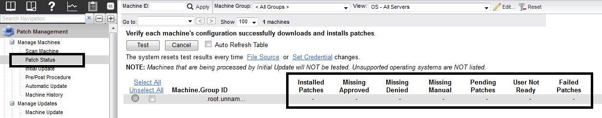 Machine Patch Status not Updating in Kaseya | ProVal