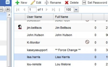 Access Control Rights for Kaseya User Accounts