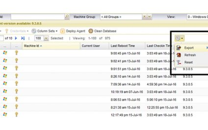 Exporting Kaseya Agent Details without Creating Reports