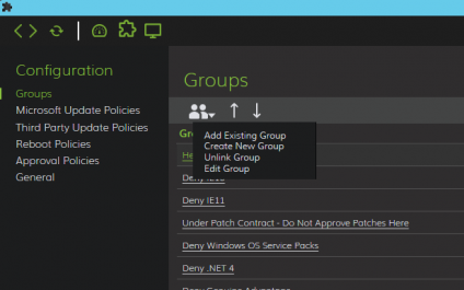 Adding an Existing Group to the LabTech 11 Patch Manager
