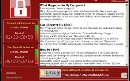 Wanna Cry Ransomware – What you need to know.