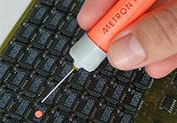 Metron Optics, Image of Metron Marker fault marker dot on circuit board